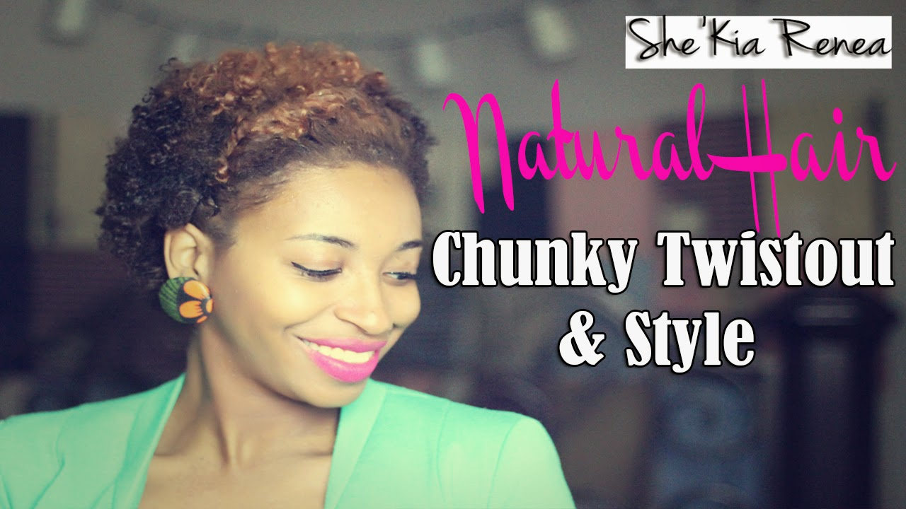 Outstanding A Chunky Twist Out Tutorial For Short Natural Hair Twa Short Hairstyles Gunalazisus