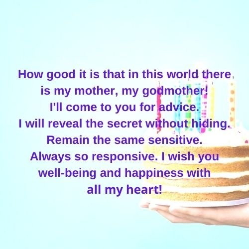 Birthday Wishes for Godmother