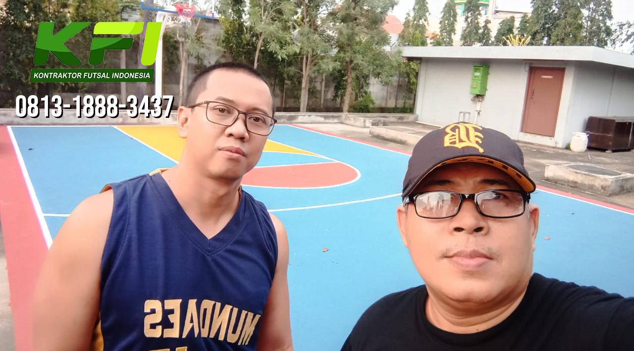 pengecatan lapangan basket di bekasi