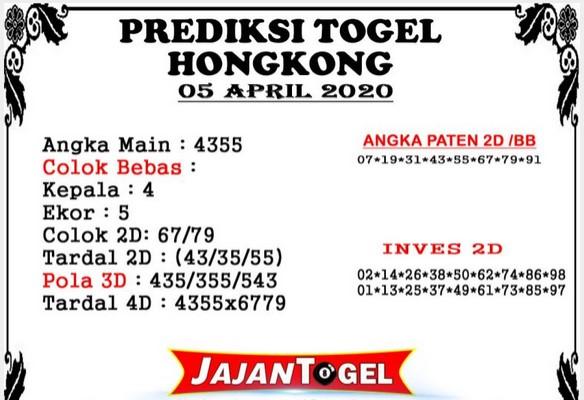 Prediksi HK Malam Ini Minggu 05 April 2020 - Prediksi Jajan Togel