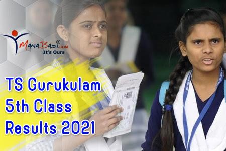 TS Gurukulam 5th Class Results 2021
