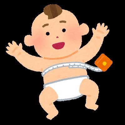 赤ちゃんの胸囲の測定のイラスト