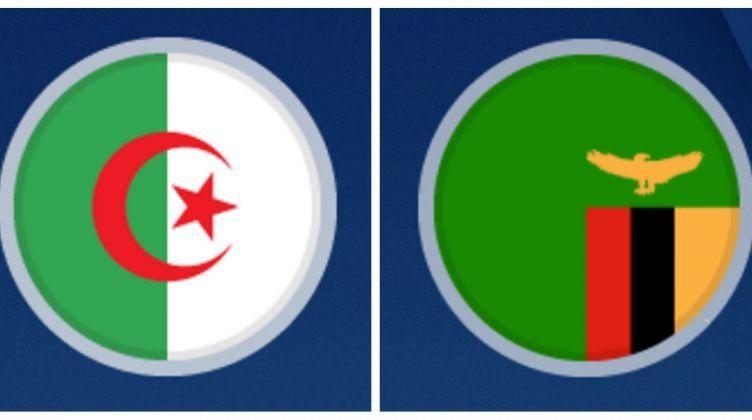 ملخص واهداف مباراة الجزائر وزامبيا اليوم