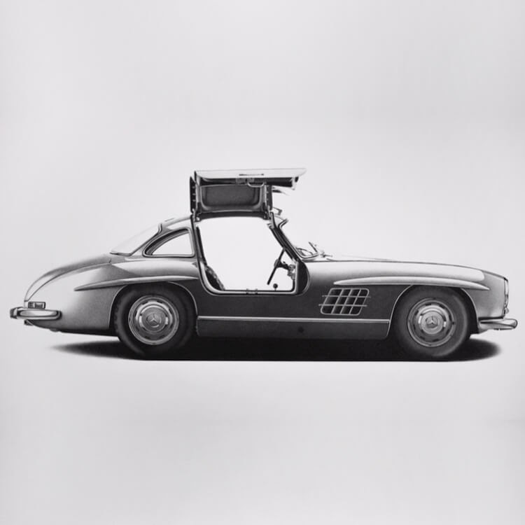10-Mercedes-300-SL-Gullwing-1954-Paul-Newman-Alessandro-Paglia-Drawings-www-designstack-co
