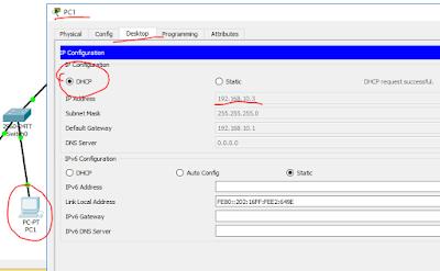Dhcp Router en Packet Tracer