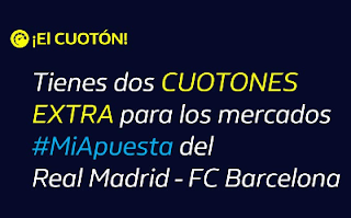 william hill CUOTÓN extra Real Madrid vs Barcelona 14-11-2019