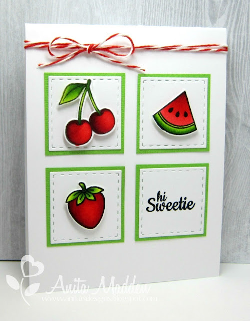 Sunny Studio Stamps: Summer Fresh & Fruity Card by Anita Madden