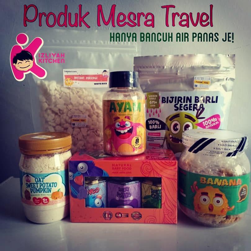 Tips travel dengan baby, baby sadoo, izliyah kitchen baby food, rush baby food, mamz spray,ebookku islamic
