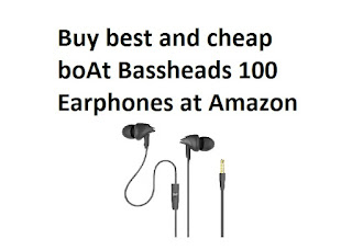 Buy best and cheap boAt Bassheads 100 Earphones at Amazon