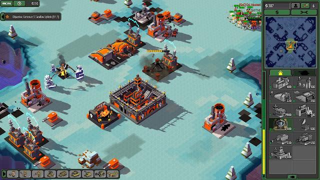 Screenshot of a Guardians base in 8-Bit Armies