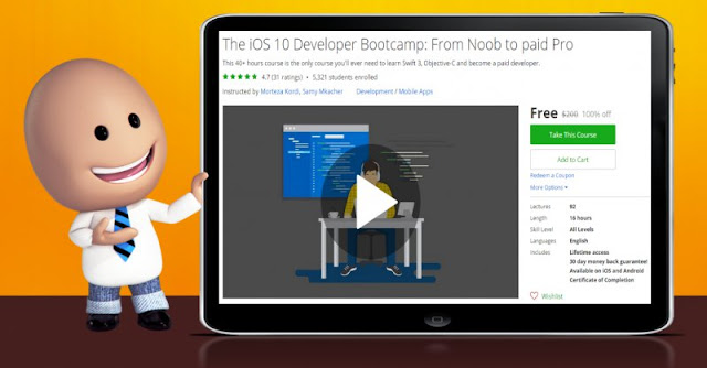 [100% Off] The iOS 10 Developer Bootcamp: From Noob to paid Pro| Worth 200$