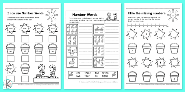 Counting Activities- kindergarten-worksheets-free printables-horizontal1