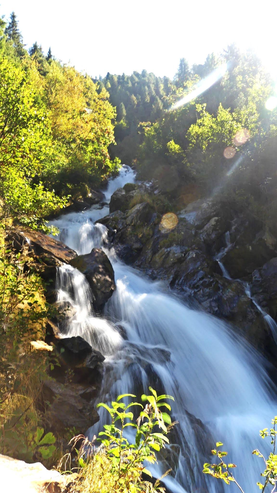 Wodospad Wurmetalbach Kaunertal Austria