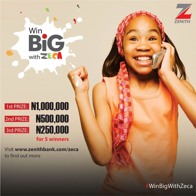 Win N1Million Naira in Zenith Bank ZECA Account Promo