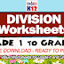DIVISION WORKSHEETS for Grade 1 to Grade 6 (Free Download