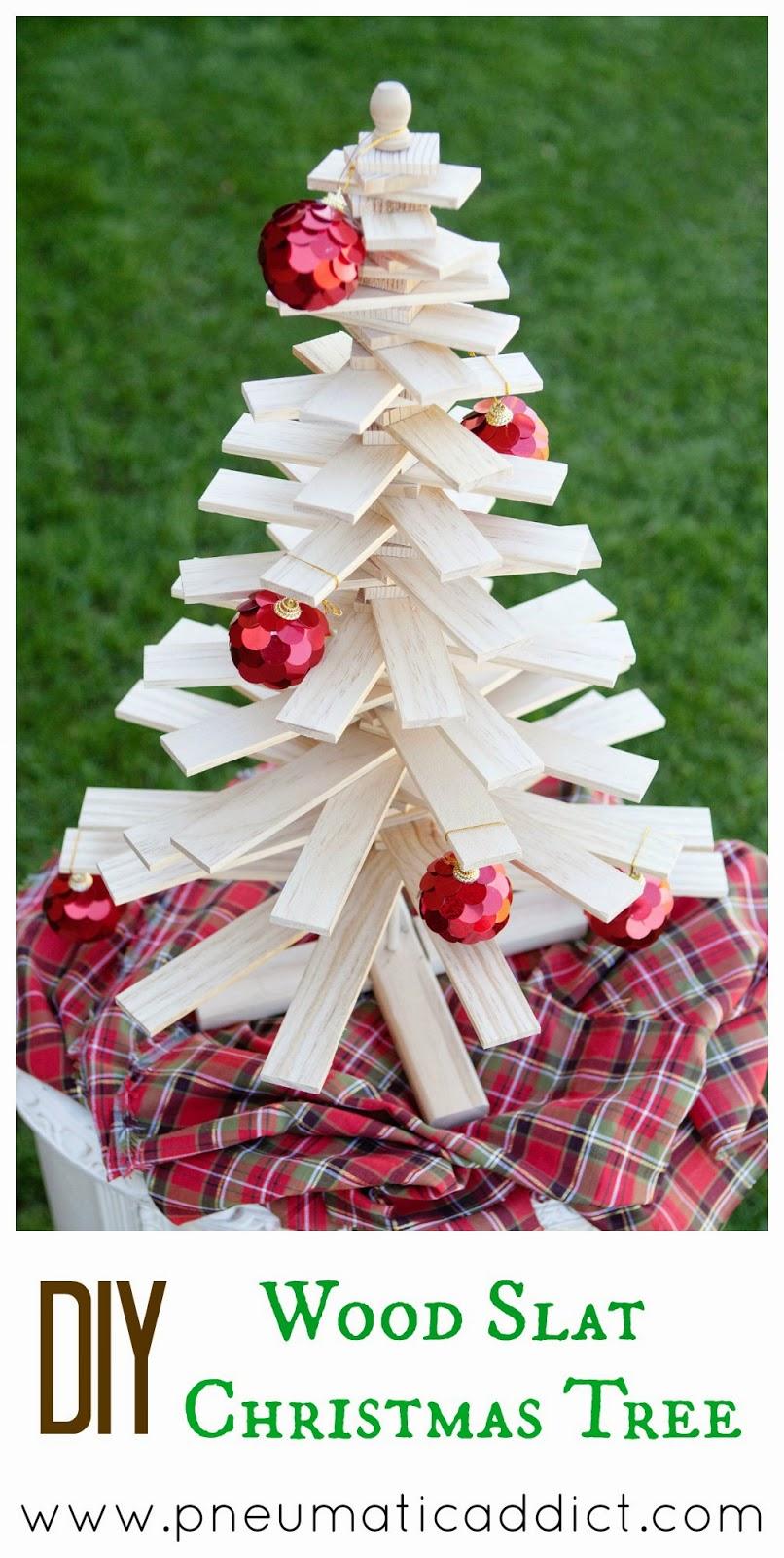 Wood Slat Christmas Tree