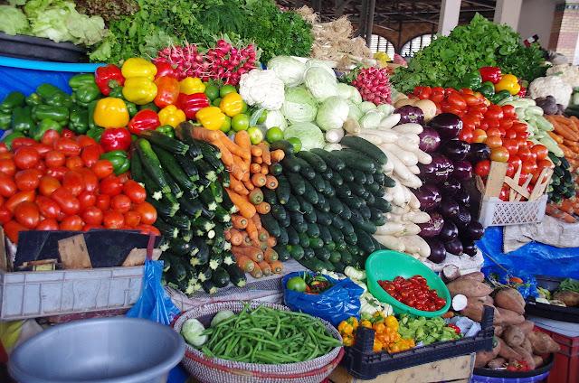 Tourisme, marché, kermel, ville, légumes, frais, frutis, LEUKSENEGAL, Sénégal, Dakar, Afrique