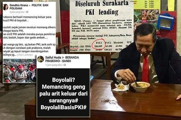 """Catat...Ini Dia Jenderal Rasis Centengnya Prabowo Yang Awal Mula Sebar Berita """"Warga Boyolali Pendemo Prabowo PKI"""""""