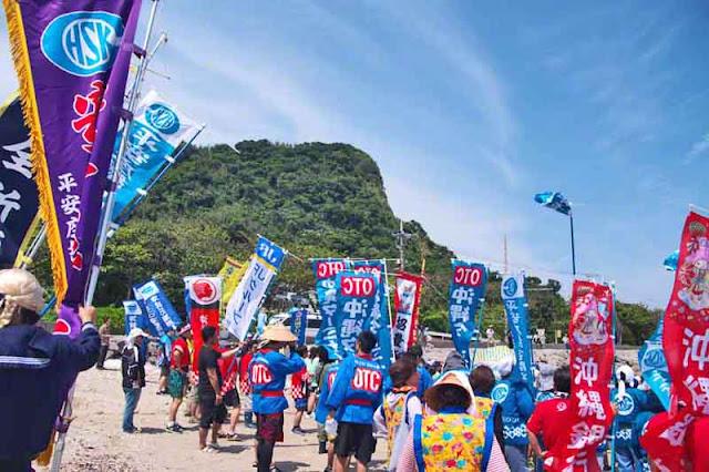 procession, festival, Sanguacha, Henza, Okinawa, Diamond Head
