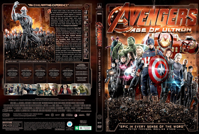 Capa DVD The Avengers Age Of Ultron
