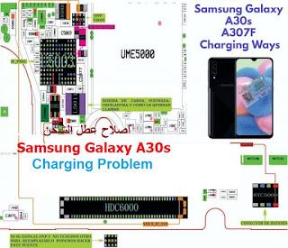 اصلاح عطل الشحن Samsung Galaxy A30s Charging Problem