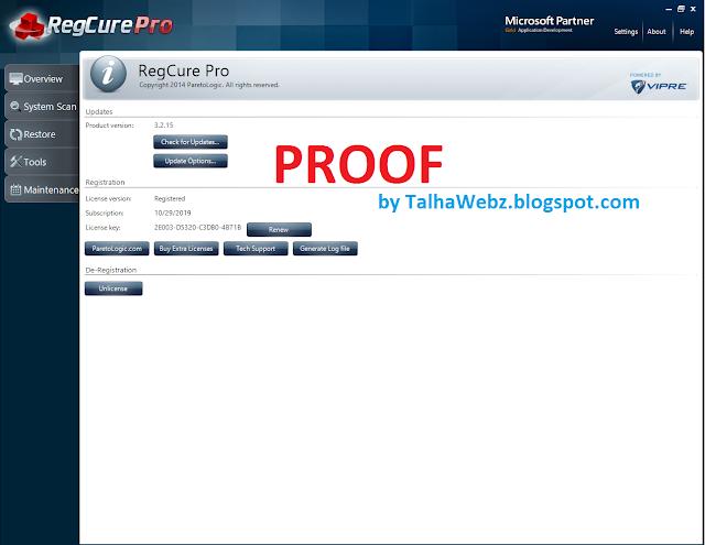 regcure pro 3.2.15 license key