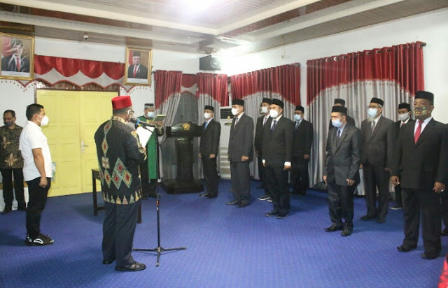 Bupati Pidie Lantik 7 Pejabat Eselon II, Fahrizal Jadi Kasatpol PPWH