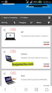 Shopping on jumia
