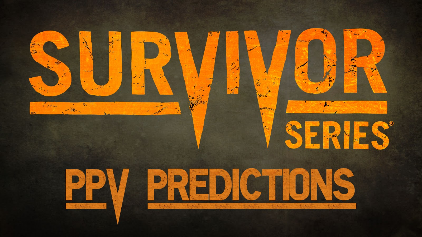 WWE Survivor Series 2015 Predictions Podcast