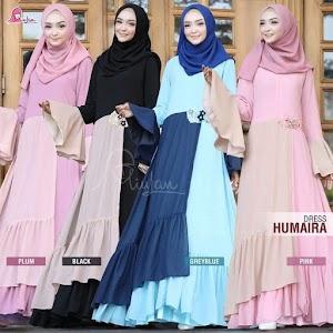 Dress Humaira Miulan Gaun Cantik Muslimah Terbaru