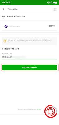 3. Selanjutnya input kode Gift Card yang kalian miliki dan jangan lupa klik Cek Kode Gift Card