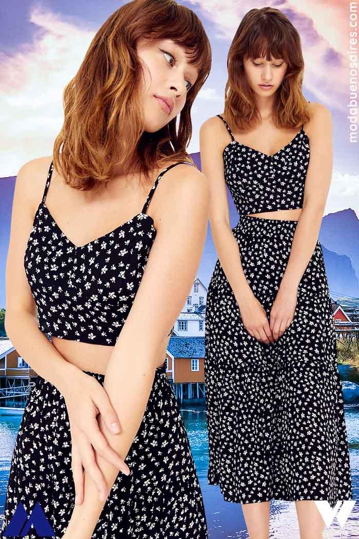 tops y faldas verano 2022 moda mujer