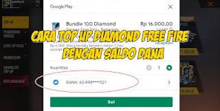 Cara Top Up Diamond Free Fire Dengan Dana