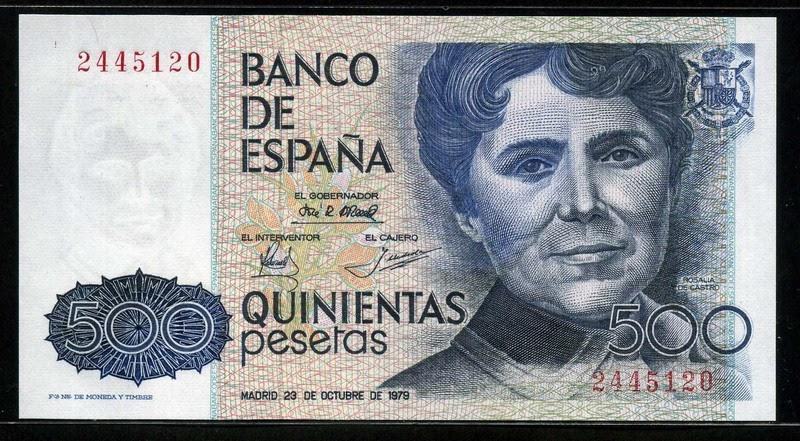 spain money 500 pesetas banknote 1979 rosal u00eda de castro