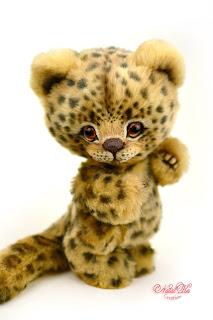 Artist teddy leopard, teddy ooak, NatalKa Creations, teddies with charm, tiger teddy, artist leopard, Künstler Leopard, Unikat, Künstlerteddy, Teddy, Teddys, Leopard, Teddy kaufen, Teddy buy