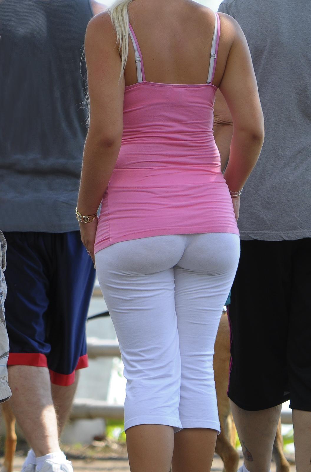 big round ass stretch pants