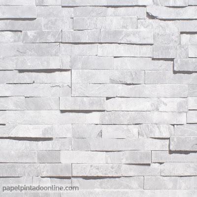 Papel para empapelar imitación piedra 1034 gris perla