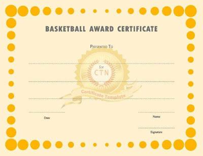 Basketball Award Certificate Word Templates Bhjja