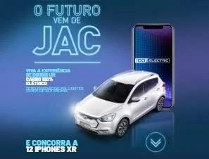 Cadastrar Promoção Jac Motors 12 iPhones XR O Futuro Vem de Jac