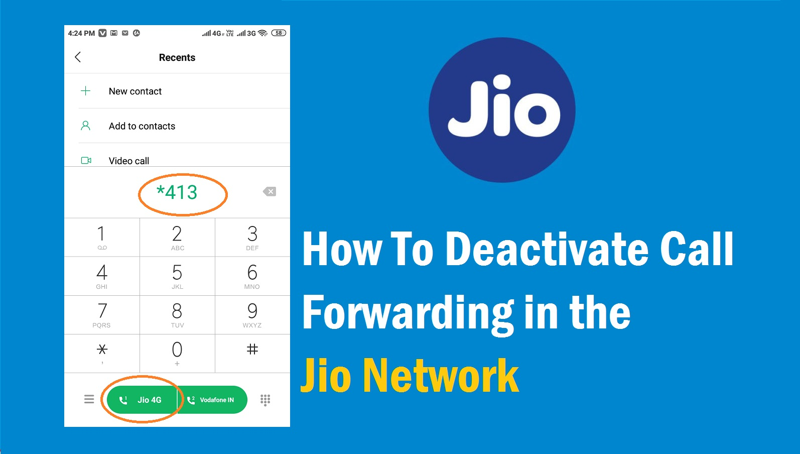 How to deactivate call forwarding in the Jio network