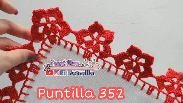 Puntilla Flor Hermosa a Crochet
