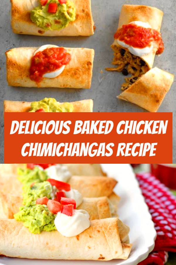 Delicious Baked Chicken Chimichangas Recipe | Learn how to make Baked Chicken Chimichangas. Brushing these with oil and baking them mimics the authentic crunch of a chimichanga. #chimichangas #chicken #bakedchicken