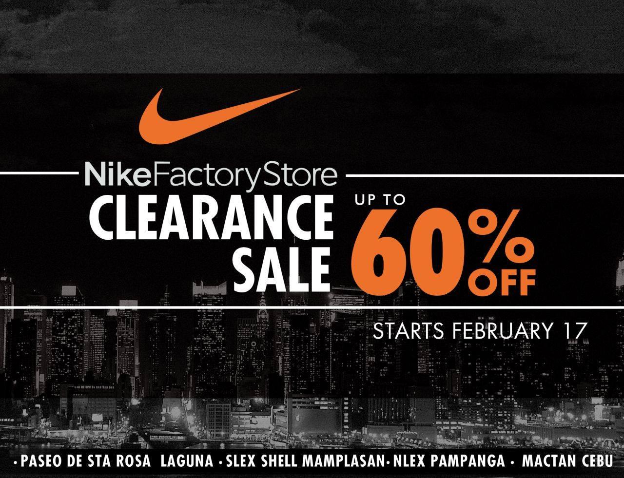 Manila Shopper Nike Factory Stores Clearance SALE FebMar 2017
