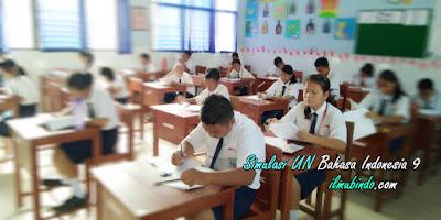 Soal Simulasi Dilengkapi dengan Kunci Jawaban UN Bahasa Indonesia Tahun 2018 (Bag.9)