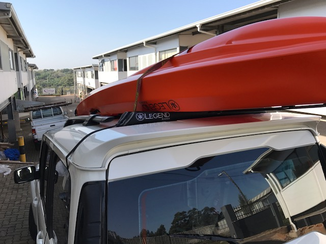 "Legend Kayak ""Soft"" Roof Rack fitted"