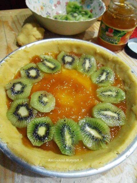 Dolci golosità: Crostata crumble al kiwi e marmellata