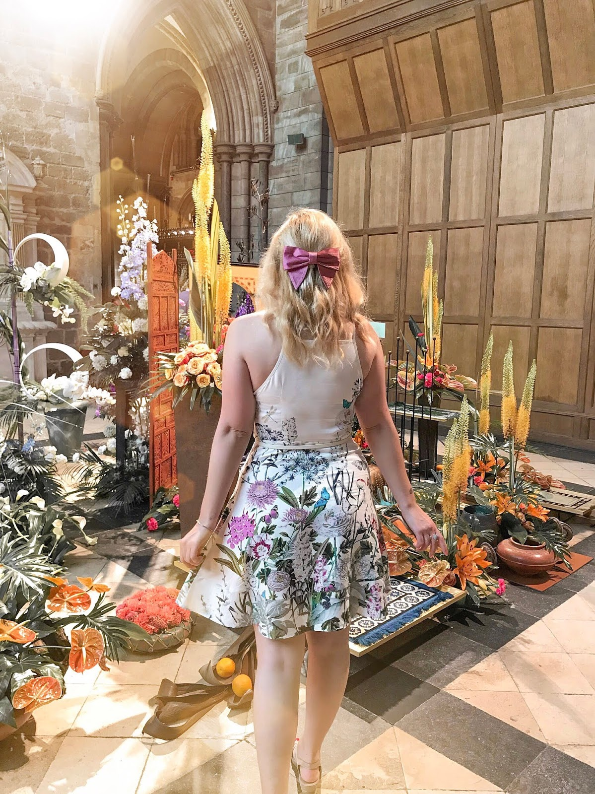 Stop & Smell The Flowers - Life's Moments With Pandora, Katie Kirk Loves, UK Blogger, Pandora Life's Moments, Pandora Jewellery, Pandora Jewelry, Chichester Festival of Flowers, West Sussex, Flower Festival, Spring Blooms, Flower Displays, Spring Flowers, Oasis Fashion, Oasis Natural History Museum Collection, UK Fashion Blogger, UK Style Blogger, Fashion Influencer, Style Influencer, UK Influencer