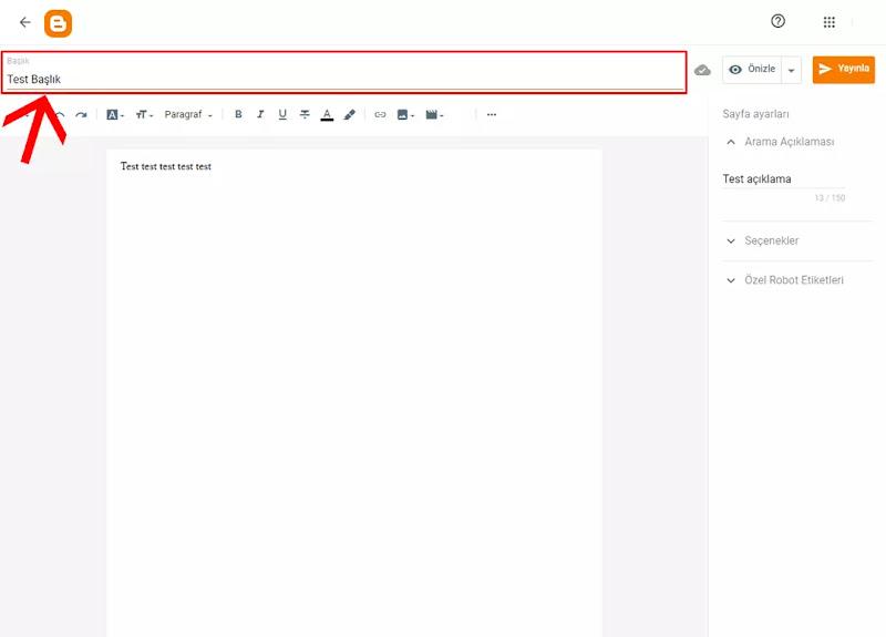 Blogger Sayfa Ekleme Nasıl Yapılır? (Yeni Arayüz)