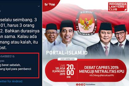 Pendukung Jokowi Tuding ILC Berat Sebelah, Karni Ilyas Kasih Jawaban Telak Menohok!