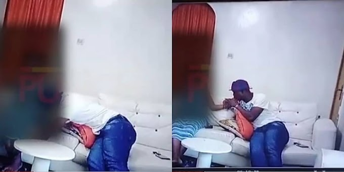 VIDEO: Watch The CCTV Footage Of Actor Baba Ijesha Molesting His 14-year-old Victim